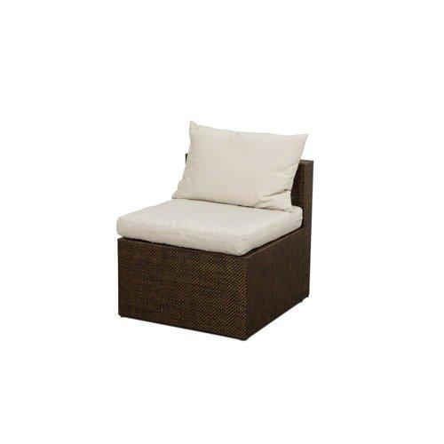 Rattan Art Fotel Bez Podłokietników Z Poduszkami Cube Rc31 Sg03304